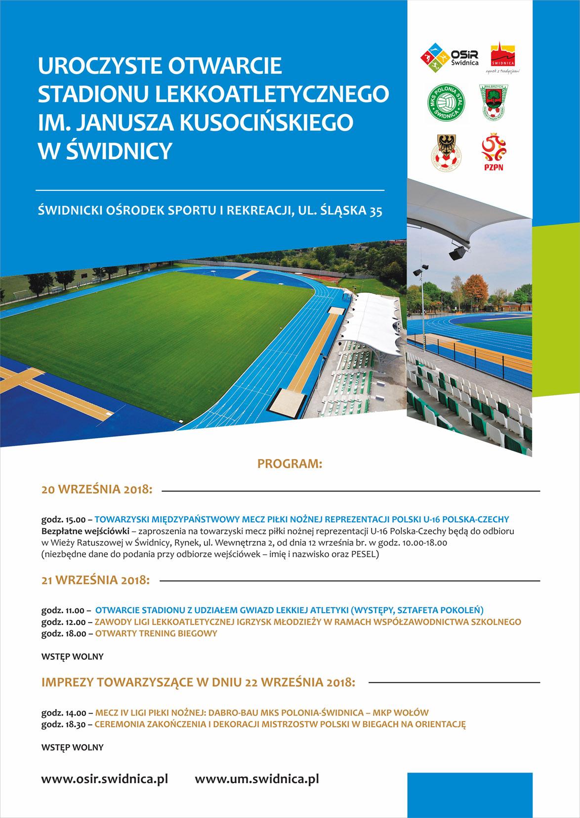 Otwarcie stadionu (INFORMACJE)